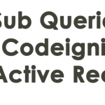 How to write Sub Queries in Codeigniter Active Record ?
