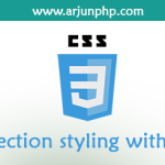 Selection styling with CSS