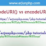 JavaScript – encodeURI() vs encodeURIComponent()