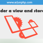 Laravel 5 render a view and store it's contents in a variable