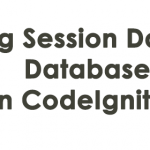 Saving Session Data to a Database in CodeIgniter3