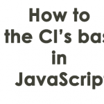 how to get the CI's base url in JavaScript