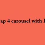 bootstrap 4 carousel with Laravel