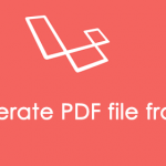 Generate PDF file from view