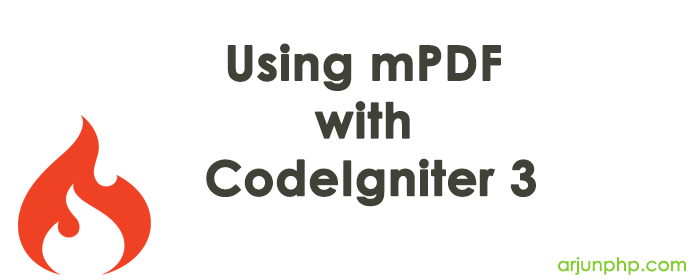 Using mPDF with CodeIgniter 3