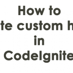 How to create custom helper in CodeIgniter